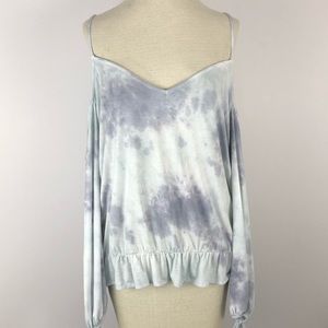 NWT American Eagle XXL tie dye cold shoulder top